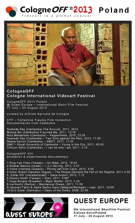 COFF 2013 @ Quest Eurpope Film Festival
